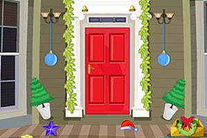 圣诞节布置大门