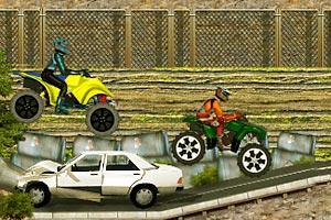 《摩托车障碍大赛》游戏画面1