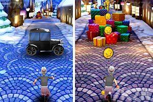 《愤怒奶奶玩跑酷圣诞版》游戏画面5