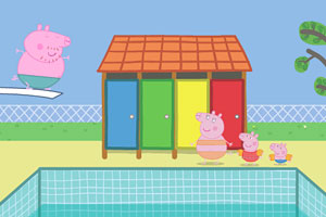 《粉红猪老爸跳水》游戏画面1