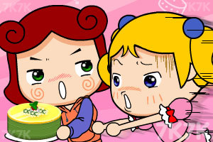 《大头妹做蛋糕》游戏画面1