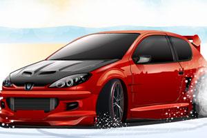 《汽车雪地停车》游戏画面1