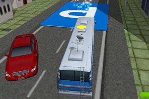 《3D超长校车停车》截图1
