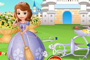 《索菲亚公主大扫除》游戏画面1