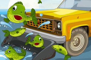 《驾车救鱼儿》游戏画面1