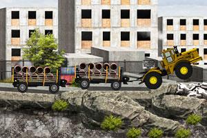 《驾驶超长大卡车》游戏画面1