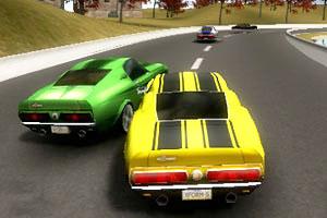 《3D小镇飙车》游戏画面1
