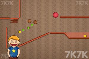 《吃货吃糖豆加强版》游戏画面1