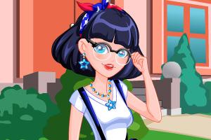 《眼镜小美女》游戏画面1