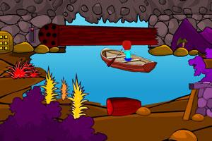 《小船洞穴逃离》游戏画面1