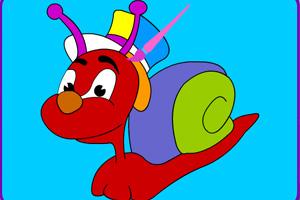 《可爱蜗牛着色》游戏画面1