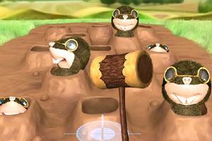 《3D打鼹鼠》游戏画面1