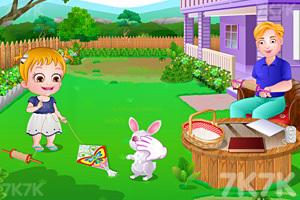 《可爱宝贝放风筝》游戏画面7