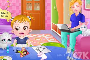 《可爱宝贝放风筝》游戏画面4