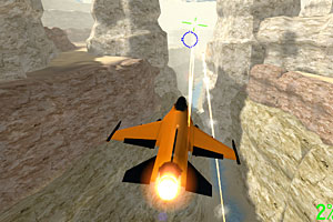 《橙色喷气战斗机》游戏画面1