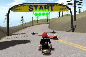 《街道雪橇大赛》游戏画面1