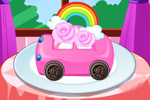 制作小汽车蛋糕