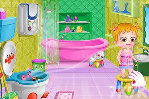《可爱宝贝清理浴室》游戏画面4