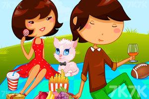 《女孩野餐偷懒》游戏画面1