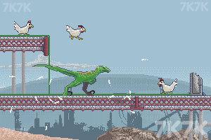 《恐龙大战嗜血公鸡》游戏画面1