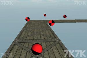 《滚动的彩色球》游戏画面1