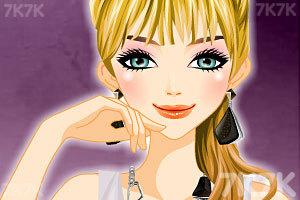 《神秘女子的多彩发型》游戏画面2