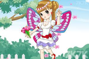 《萌萌的蝴蝶女孩》游戏画面2