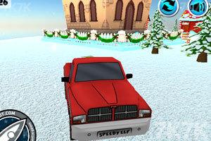 《送圣诞礼物的卡车》游戏画面1
