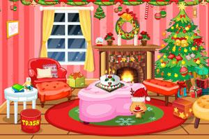 《可爱女孩打扫圣诞节房间》游戏画面1