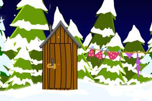 《逃出大雪中的圣诞屋》游戏画面1
