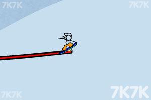 《火柴人冰雪滑板无敌版》游戏画面1