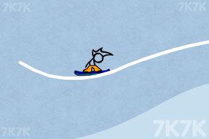 《火柴人冰雪滑板无敌版》游戏画面6