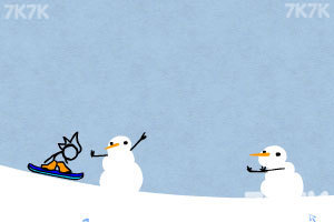 《火柴人冰雪滑板无敌版》游戏画面3