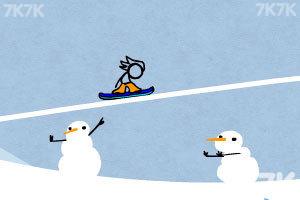 《火柴人冰雪滑板无敌版》游戏画面2