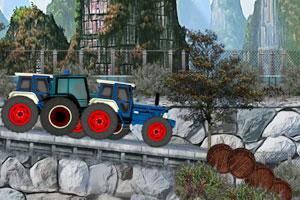 《疯狂拖拉机赛车》游戏画面1