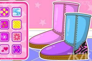 《时尚拼接雪地靴》游戏画面2