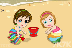 《麦丽莎宝贝的沙滩之旅》游戏画面1