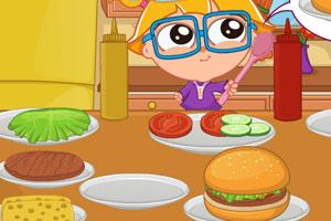 一起学做汉堡包