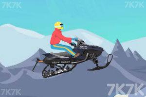 《雪地摩托极限跳跃》游戏画面2