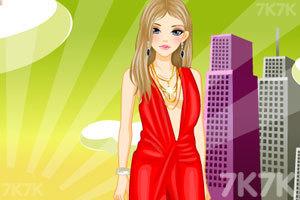 《时尚的深V礼服》游戏画面3