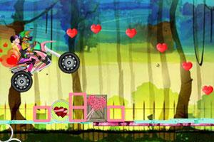 《情人节摩托驾驶》游戏画面1