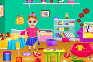 《宝贝打扫卧室》游戏画面1