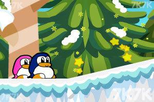 《企鹅爱吃鱼3新大陆无敌版》游戏画面2