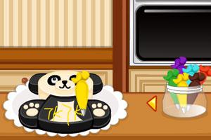 可爱的熊猫蛋糕