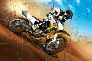 《沙漠摩托车拼图》游戏画面1