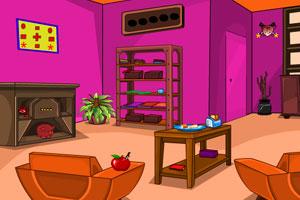 《紫色大厅逃脱》游戏画面1