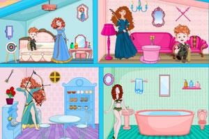 《梅里达公主的娃娃屋》游戏画面1