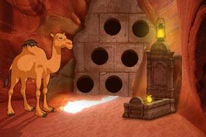 《骆驼逃出洞穴》游戏画面1