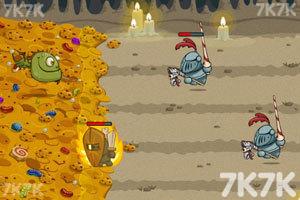《恐龙鱼大战骑士军团中文版》游戏画面1