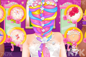 《长发公主的婚礼美发》游戏画面2